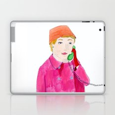 Doris Day on the phone Laptop & iPad Skin