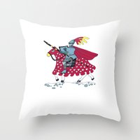 knight Throw Pillows featuring Knight by dagmar kruskova