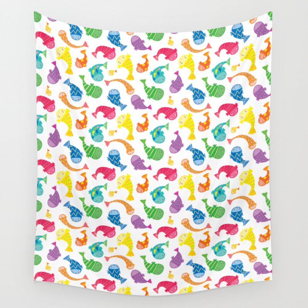 Little Fishies Wall Tapestry by Maxinelee TPS6122569