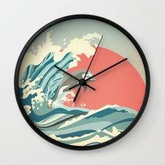dolphin happiness Wall Clock