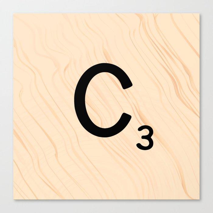 Scrabble Tile C - Large Scrabble Letters Canvas Print