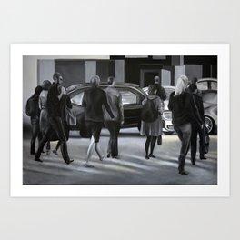 Rush time, 2012, 120-80cm, oil on canvas Art Print