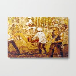 Gold Miners , AUSTRALIA             by Kay Lipton Metal Print