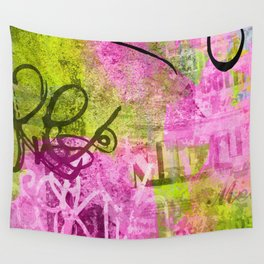 Abstract graffiti texture Wall Tapestry