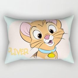 Oliver and Company: Oliver Face Rectangular Pillow