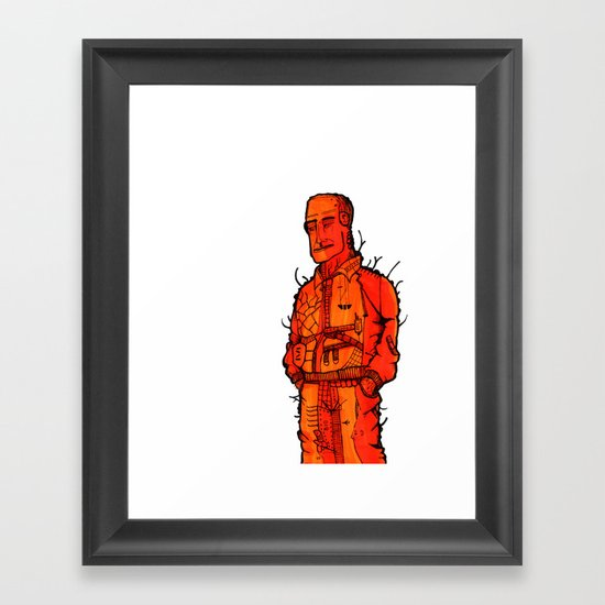 Couldn't be Bothered  Framed Art Print