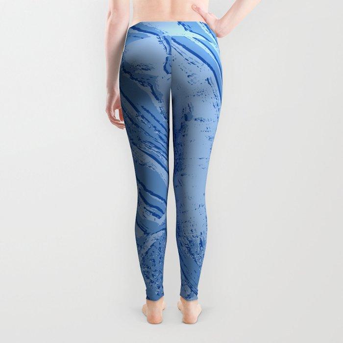 BLUE MARBLE EFFECT Leggings