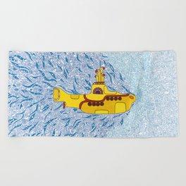 My Yellow Submarine Beach Towel
