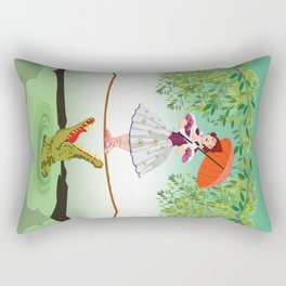 Halloween the girl with the crocodile iPhone 4 4s 5 5s 5c, ipod, ipad, pillow case and tshirt Rectangular Pillow
