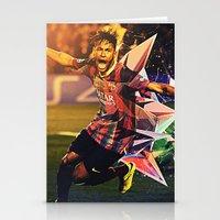 neymar Stationery Cards featuring Neymar by Max Hopmans / FootWalls