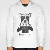 snowboarding Hoodies featuring Winter is boring by Balazs Solti