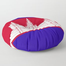 Cambodia flag emblem Floor Pillow