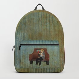 Rooster man and his pick up truck Backpack