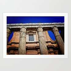The Temple of Antonius & Faustina Art Print