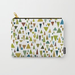 Watercolor triangle fantasy in nature colors Carry-All Pouch