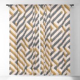 Orange Maze Sheer Curtain