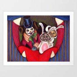Bella and cats Art Print