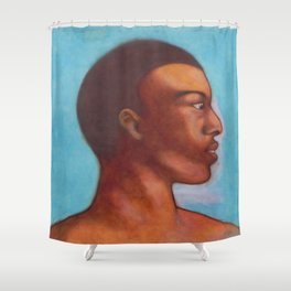 Khalid in Michelangelo mood Shower Curtain