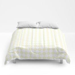 Small Diamonds - White and Beige Comforters