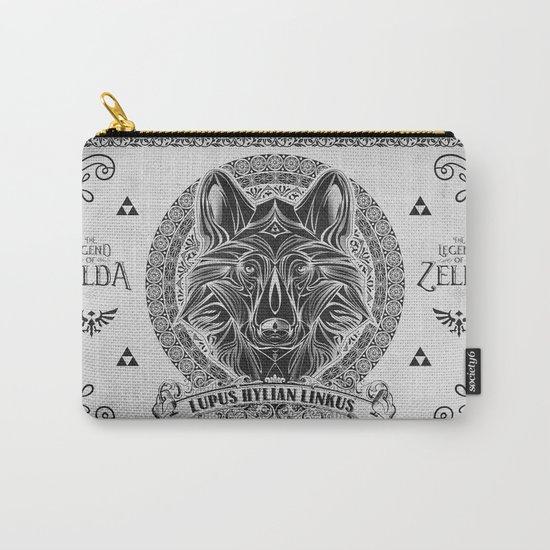Legend of Zelda Twilight Wolf Link Line Art Carry-All Pouch