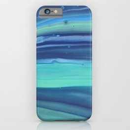 Shades of Blue Abstract Stripes iPhone Case
