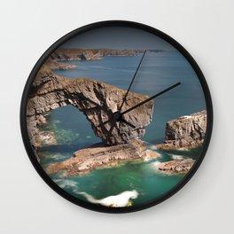 The Green Bridge of Wales Wall Clock