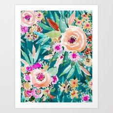 GOOD LIFE Colorful Floral Art Print