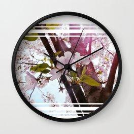 DC Blossoms Wall Clock