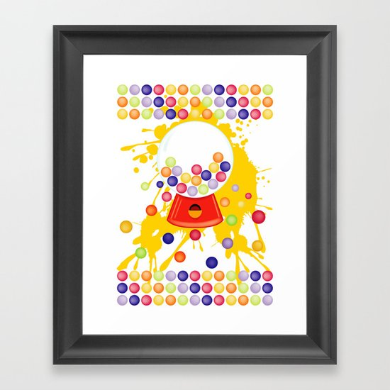 Gumball_Machine Framed Art Print
