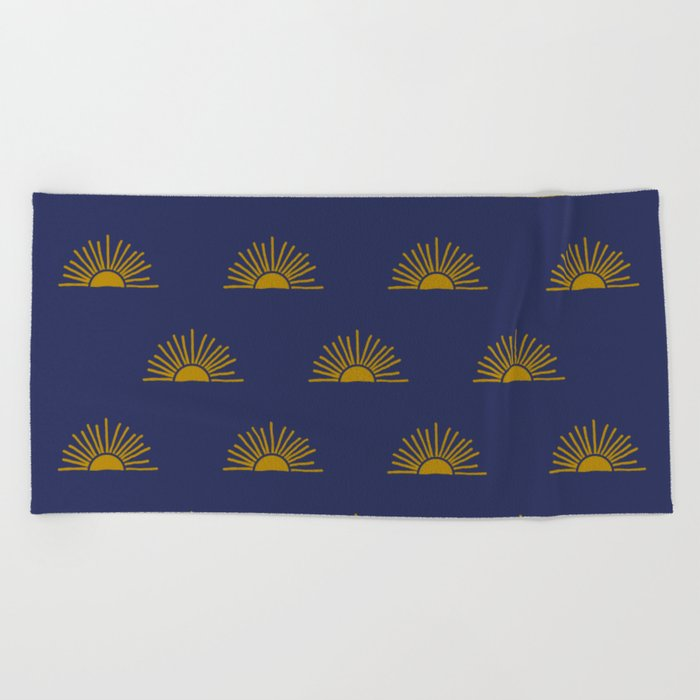 Sol in Indigo Beach Towel