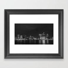 Baltimore Nighttime Skyline V.2 Framed Art Print