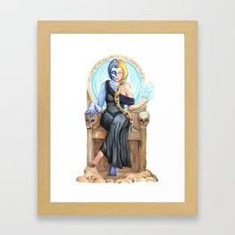 Hel, Norse Goddess of the Underworld Framed Art Print