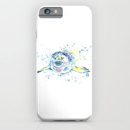 Harbour Seal Watercolor Painting - Emil iPhone Case