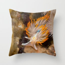 Opalescent Nudibranch Throw Pillow