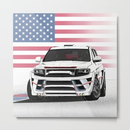 Jeep Cherokee SRT Artrace body-kit Metal Print