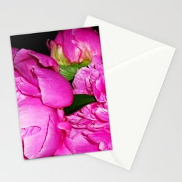 Peony Bouquet in a Crystal Vase Stationery Cards