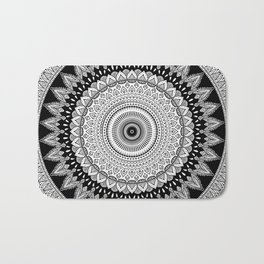 Black and White Mandala Two Bath Mat