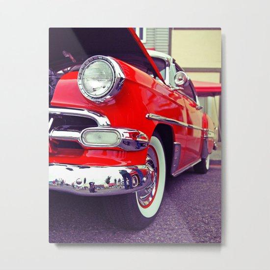 Classic red Metal Print