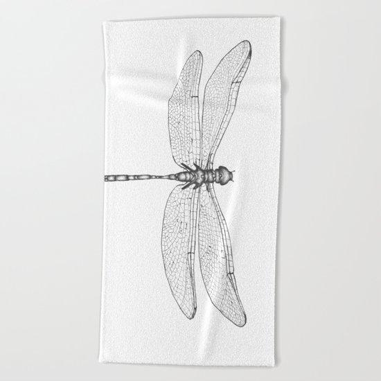 Dragonfly Wings Beach Towel
