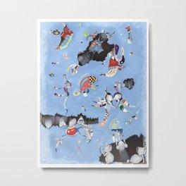Mice eat a Kandinsky Metal Print