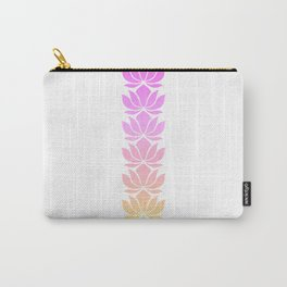 04989 Lotus flower yoga pos Carry-All Pouch