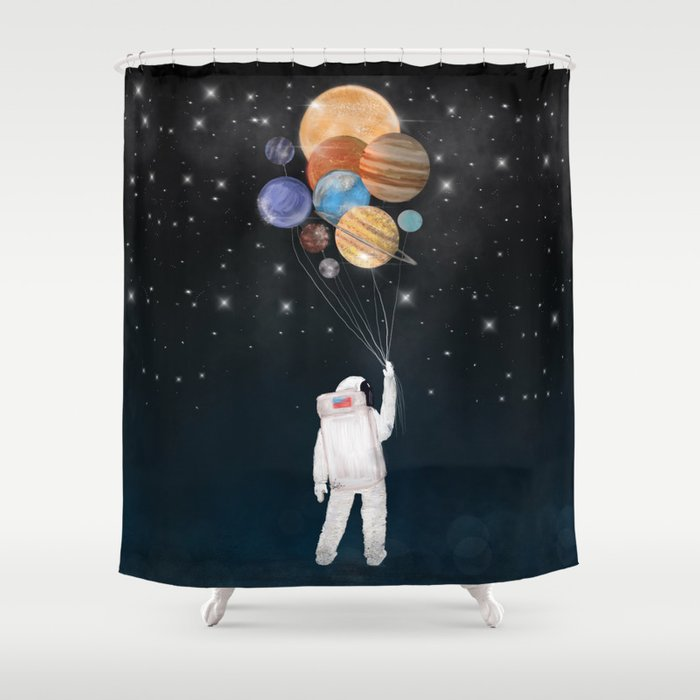 Balloon Universe Shower Curtain By Bribuckley