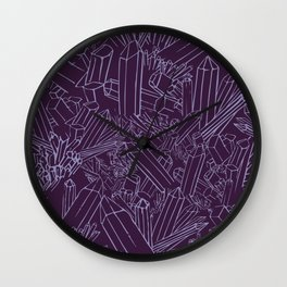 Amethystia Wall Clock