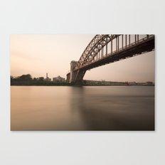 Hell Gate Bridge (NYC) at Sunset Canvas Print