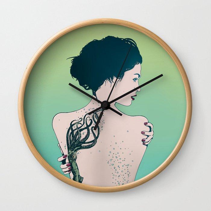 Tattooed Lady Update Wall Clock