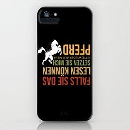 Horses Icelandic & Haflinger Gift iPhone Case