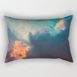 Clouds illuminated and rising sun Rectangular Pillow