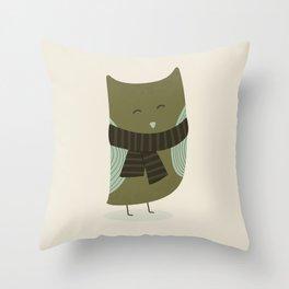 Cute Little Owl Throw Pillow