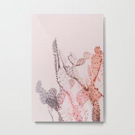 Boho Cactus II Metal Print