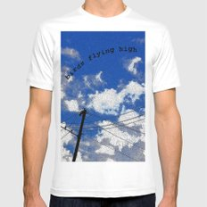 Birds Flying High MEDIUM White Mens Fitted Tee